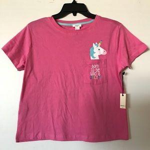 NWT unicorn crop top t shirt fun rave festival